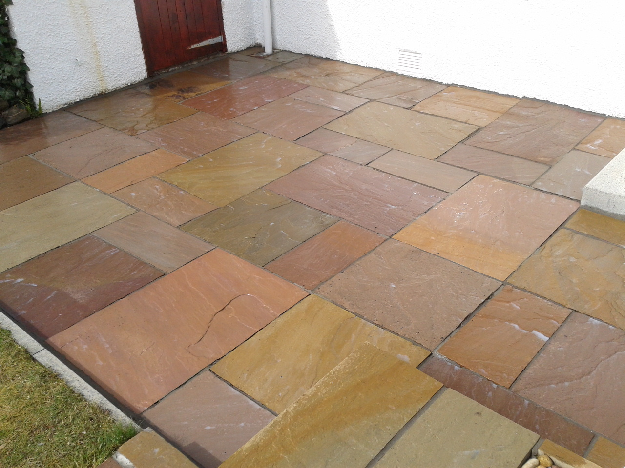 sandstone paving after