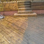 Decking cleaning underway